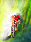 Sports Art Mixed Media Posters - Le Tour de France 12 Poster by Miki De Goodaboom