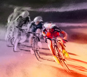 Sports Art Mixed Media Posters - Le Tour de France 13 Poster by Miki De Goodaboom
