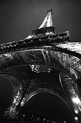 Black And White Paris Posters - Le Tour Eiffel Poster by Eric Tadsen