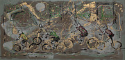 Bicycling Paintings - Le Tour by J R Seymour