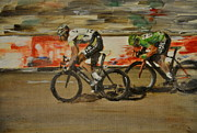 Cycling Originals - Le Vert Vite by Lawrence Walton