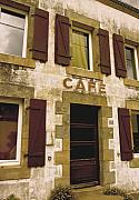 Wine Service Photo Metal Prints - Le Vieux Cafe    The Old Cafe Bar Metal Print by Mark Hendrickson