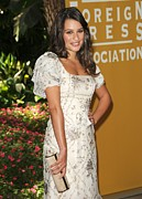 Lea Michele Wearing A Valentino Resort Print by Everett