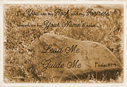 Sienna Prints - Lead Me Guide Me Psalm 31 Print by Robyn Stacey