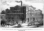 1876 Prints - Lead Pencil Factory Print by Granger