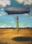Pencil Paintings - Lead Zeppelin by Leah Saulnier The Painting Maniac