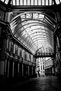 Ripper Prints - Leadenhall Market london Black and White image Print by David Pyatt