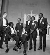 Discrimination Photo Prints - Leaders Of The 1963 March On Washington Print by Everett