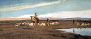 Frederick Prints - Leading the Flock to Pasture Print by Frederick Goodall