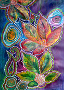 Leaf Paintings - Leaf Fiesta by Vijay Sharon Govender