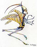 Fantasy Art Metal Prints - Leaf Hopper Metal Print by Mindy Newman