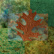 Digital Collage Art Framed Prints - Leaf Life 01 - Green 01b2 Framed Print by Variance Collections