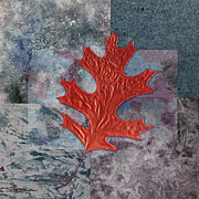 Digital Collage Art Prints - Leaf Life 01 - t01b Print by Variance Collections