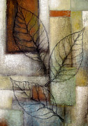Organic Paintings - Leaf Whisper 2 by Leon Zernitsky