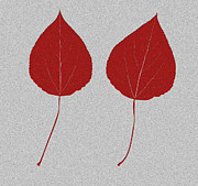 Red Leaf Mixed Media Posters - Leafs rouge Poster by Bruce Stanfield