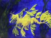 Leafy Sea Dragon Posters - Leafy Sea Dragon 1 Poster by Lucien Van Oosten