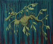 Leafy Sea Dragon Posters - Leafy Sea Dragon Poster by Kelly Jade King