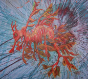 Leafy Sea Dragon Posters - Leafy Sea Dragon Poster by Lawry Love