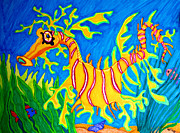 Leafy Sea Dragon Posters - Leafy Sea Dragon Poster by Nick Gustafson