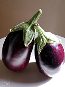 Eggplant Framed Prints - Lean on Me Framed Print by Christine Belt