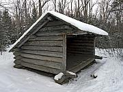 Lean Prints - Lean to Cabin in the Adirondack Mountains - Upstate New York during winter Print by Brendan Reals