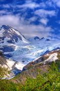 Prince William Prints - Leanard Glacier Print by David Wagner