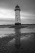 Leaning Lighthouse Print by John Hallett