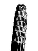 Building Exterior Digital Art - Leaning Tower Of Pisa by Stock Foundry