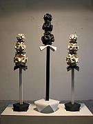Ceramic Mixed Media - Leaning Towers by Melissa Hampton
