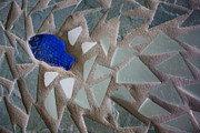 Mosaic Mixed Media - Leap Of Fish Faith by Anne Babineau