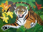 Tiger Originals - Leaping Tiger by Debbie LaFrance