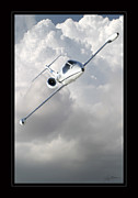 Airplane Poster Prints - Learjet Print by Larry McManus