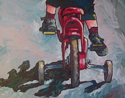 Bicycle Painting Originals - Learning by Sandy Tracey