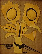 Sunflowers Tapestries - Textiles - Leather-1. Henri Matisse sunflowers by Ludmila Kalinina