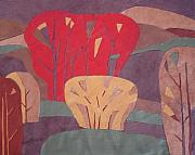 Garden Tapestries - Textiles Originals - Leather-4 by Ludmila Kalinina
