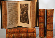 Antique Books Prints - Leather Bound I Print by Marcie Adams Eastmans Studio Photography