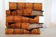 Antique Books Prints - Leather Bound II Print by Marcie Adams Eastmans Studio Photography