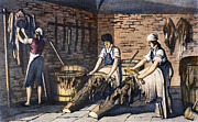 Washtub Prints - Leather Manufacture, 1800 Print by Granger