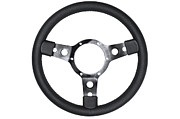 Traffic Control Prints - Leather steering wheel isolated Print by Richard Thomas