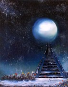 Stairway To Heaven Painting Prints - Leave Your Trail Print by Tara Baden
