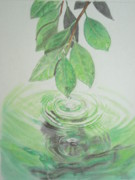 Leaf Pastels Originals - Leaves Above The Water by Vlastimir Mandic
