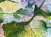 Environmental Painting Prints - Leaves Print by Arlissa Vaughn