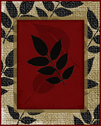 Beige Wall Art Framed Prints - Leaves Leaves Leaves Framed Print by Bonnie Bruno