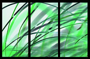 Refreshing Posters - Leaves Of Grass triptych Poster by Terril Heilman