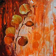 Nature Study Painting Metal Prints - Leaves1 Metal Print by Chris Steinken