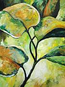 Nature Study Painting Metal Prints - Leaves2 Metal Print by Chris Steinken