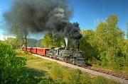 Steam Train Prints Art - Leaving Chama by Ken Smith