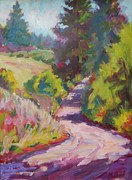 Impressionistic Paintings - Leaving Chatteau Lorane by Margaret  Plumb