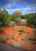 Red Rocks Of Sedona Prints - Leaving Sedona Print by Carol Groenen