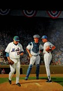Mets Paintings - Leaving The Mound by Mel Greifinger
